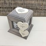 Shabby Chic In Memory Of BROTHER Or ANY NAME Rustic Wood Personalised Photo CUBE - 332868780347